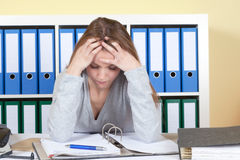 Young student under mental pressure Royalty Free Stock Photography