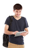 Young student using tablet pc Royalty Free Stock Photography