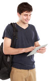 Young student using tablet pc Royalty Free Stock Image