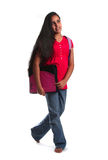 Young student on the way to school Stock Image