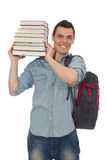 The young student  on white. Young student  on white Royalty Free Stock Photography