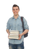 The young student  on white. Young student  on white Royalty Free Stock Images