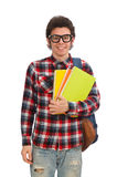 The young student  on white. Young student  on white Stock Images