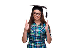 The young student  on the white background. Young student  on the white background Stock Images