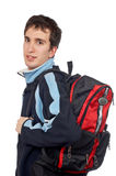 Young Student With Backpack Stock Photos