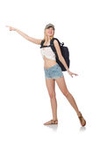 Young Student With Backpack Isolated Stock Image