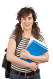 Young student woman with backp Royalty Free Stock Photography