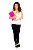 Young student woman with notes. Stock Photography