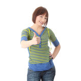 Young student woman with thumb up Royalty Free Stock Image