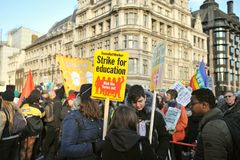 Free Young Students And Pupils On Strike To Protest The Climate Change Royalty Free Stock Image - 165462806