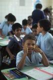 Young students in Brazil. PORTO VELHO, BRAZIL - APRIL 28, 1997. Young students in a classroom in Brazil royalty free stock photography