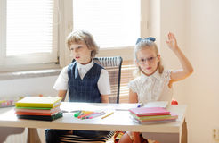 Young students in class. Royalty Free Stock Photo