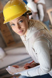 Young students in construction apprenticeship Royalty Free Stock Images