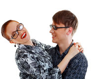 Young students hugging Royalty Free Stock Photography