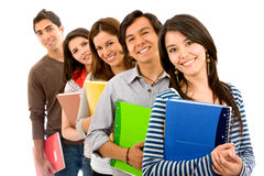 Young students - isolated Stock Image