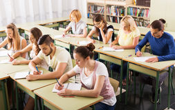 Young students studying in the classroom Stock Photography
