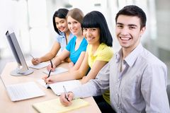 Young students Stock Photography