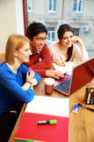 Young Students Studying Together Royalty Free Stock Photos