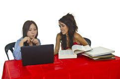 Young students thinking and discussion Royalty Free Stock Photography