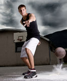 Young stylish basketball player Stock Image
