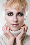 Young stylish blonde royalty free stock images