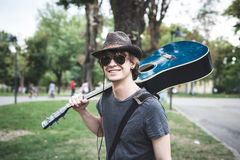 Young stylish blonde  hipster man Stock Photography