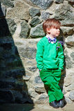 Young stylish boy wearing green Stock Image