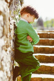 Young stylish boy wearing green Royalty Free Stock Photos