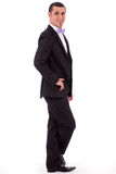 Young stylish business man standing Stock Photo
