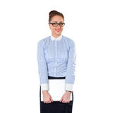 Young stylish business woman with laptop Royalty Free Stock Image