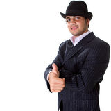 Young stylish businessman with hat Stock Photos