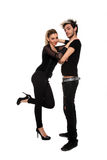 Young stylish couple Stock Photos