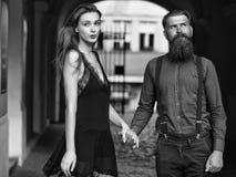 Young stylish couple Royalty Free Stock Image