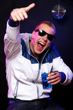 Young stylish guy in the nightclub Royalty Free Stock Images