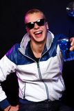 Young stylish guy in the nightclub Stock Photo
