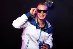 Young stylish guy in the nightclub Royalty Free Stock Photography