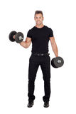 Young stylish lifting weights Stock Photos