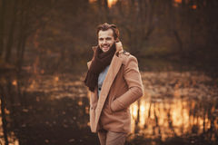 Young stylish man with beard Royalty Free Stock Photos
