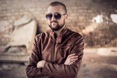 Young stylish man portrait stock photography