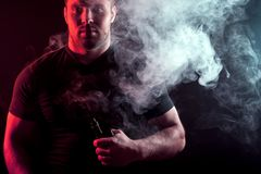 Stylish man smoker stock photos
