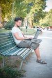 Young stylish man using notebook Stock Image