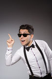 Young stylish man wearing sun glasses Royalty Free Stock Photo