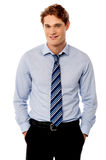 Young stylish smiling sales executive Royalty Free Stock Photo