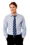 Young stylish smiling sales executive Royalty Free Stock Photography