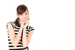 Young stylish teenage girl Royalty Free Stock Photos