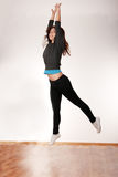 Young stylish woman dancing modern dance Stock Photo