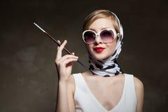 Young stylish woman posing, retro styling Stock Image