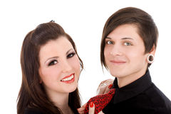 Young subcultural couple Stock Photos