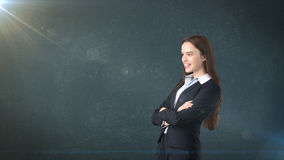 Young succesful beautiful businesswoman portrait in suit Stock Photography