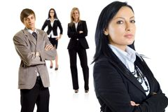 Young succesfull business team Stock Image